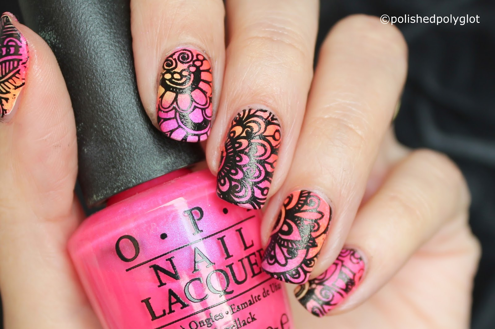 Nail art │Black and Neon nails using BeautyBigBang products [26GNAI ...