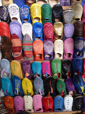 Bunte Lederschuhe aus Marokko