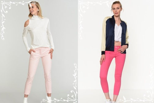 Pembe-renk-pantolon-modelleri-bluz-kombin