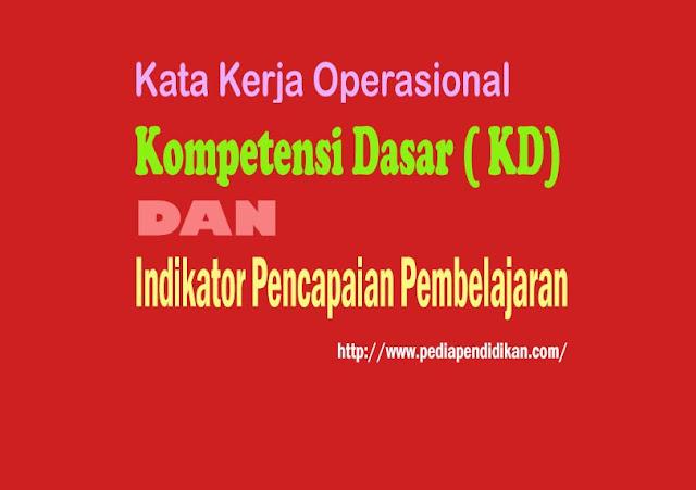 Daftar Klasifikasi Kata Kerja Operasional Dalam Merumuskan KD dan Indikator Pencapaian Pembelajaran