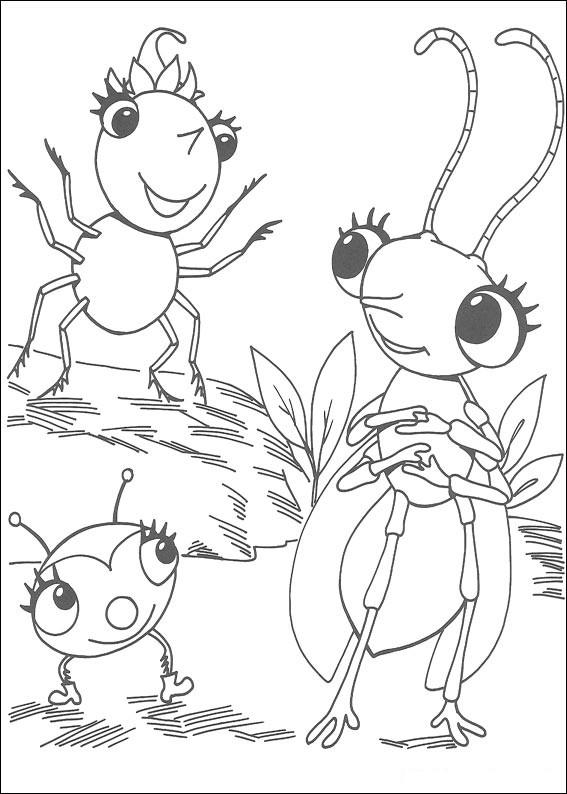 Miss spiders coloring pages ~ Las aventuras de Miss Spider, Arañita, Bailarin, Copito ...