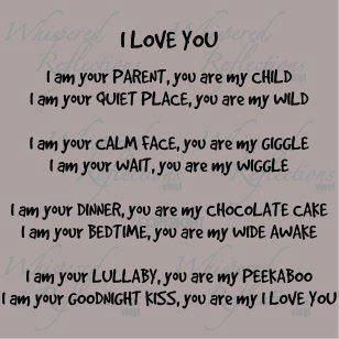 The Barrows Family Adventures You Are My I Love You Poem