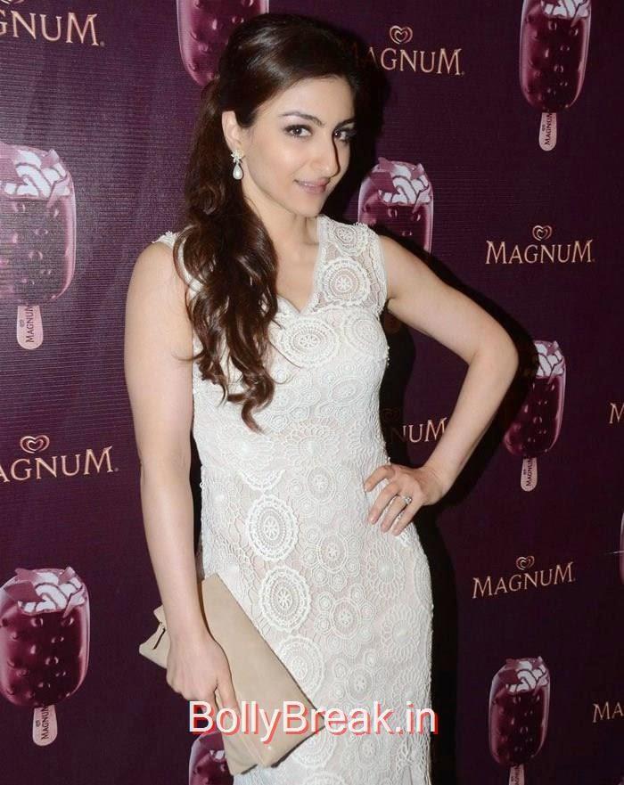 Soha Ali Khan, Urvashi Rautela,Sana Khan, Soha Ali Khan, Magnum's Choco Cappuccino flavour Icecream Launch