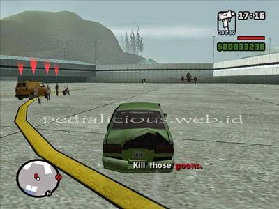 Gerombolan pembajak akan keluar van dan dengan cepat menghancurkan mobil C.J.