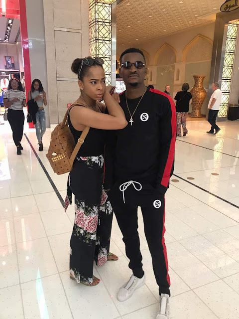 Photos: Ellyman and T-boss continue relationship in Dubai, spotted together in shopping mall