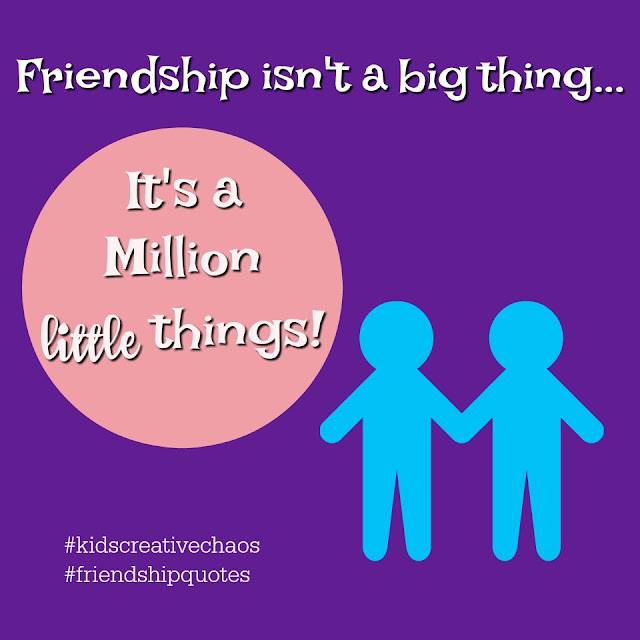 Friendship Quotes Meme Inspiration: Friendship isn't a Big Thing.