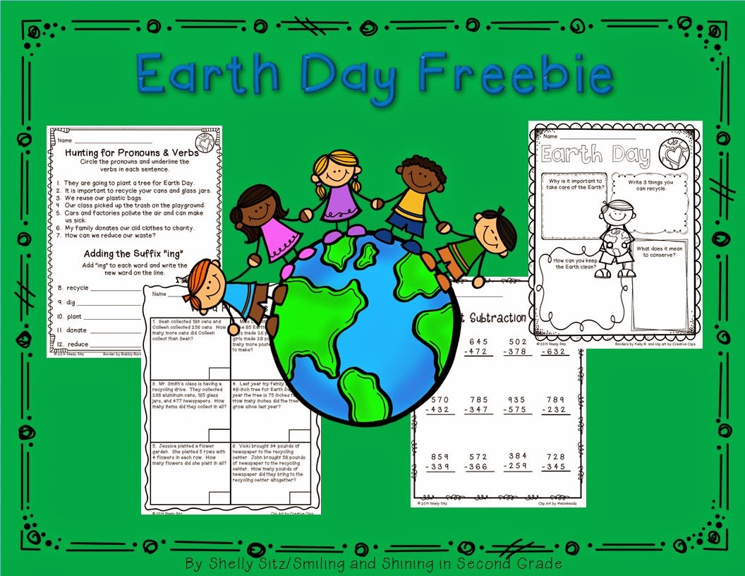 Smiling And Shining In Second Grade Earth Day Freebies