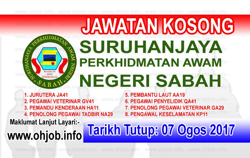 Jawatan Kerja Kosong Suruhanjaya Perkhidmatan Awam Negeri Sabah - SPANS logo www.ohjob.info ogos 2017