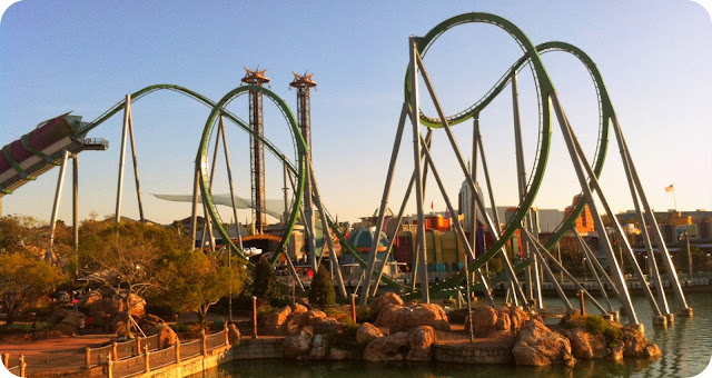 Parque Islands of Adventure / Orlando / Estados Unidos  / The Incredible Hulk Coaster