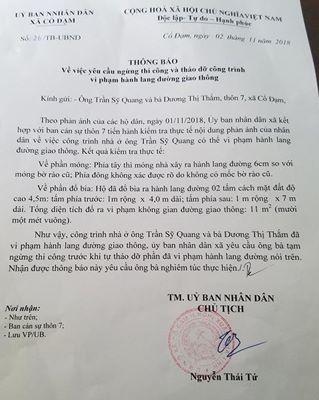 Bí thư xã ở Hà Tĩnh bị yêu cầu tháo dỡ nhà xây lấn đường ảnh 3