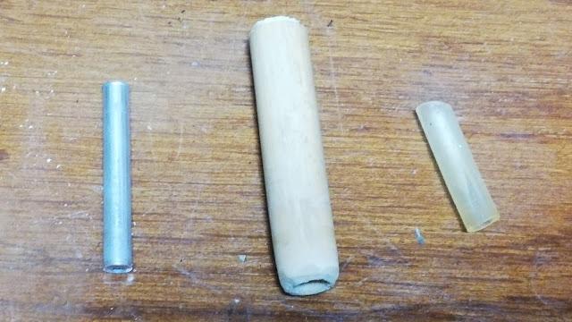 アルミパイプ、竹、シリコンチューブ