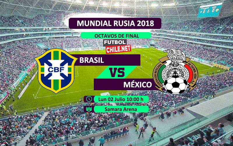 Brasil vs México por los octavos de final del Mundial Rusia 2018
