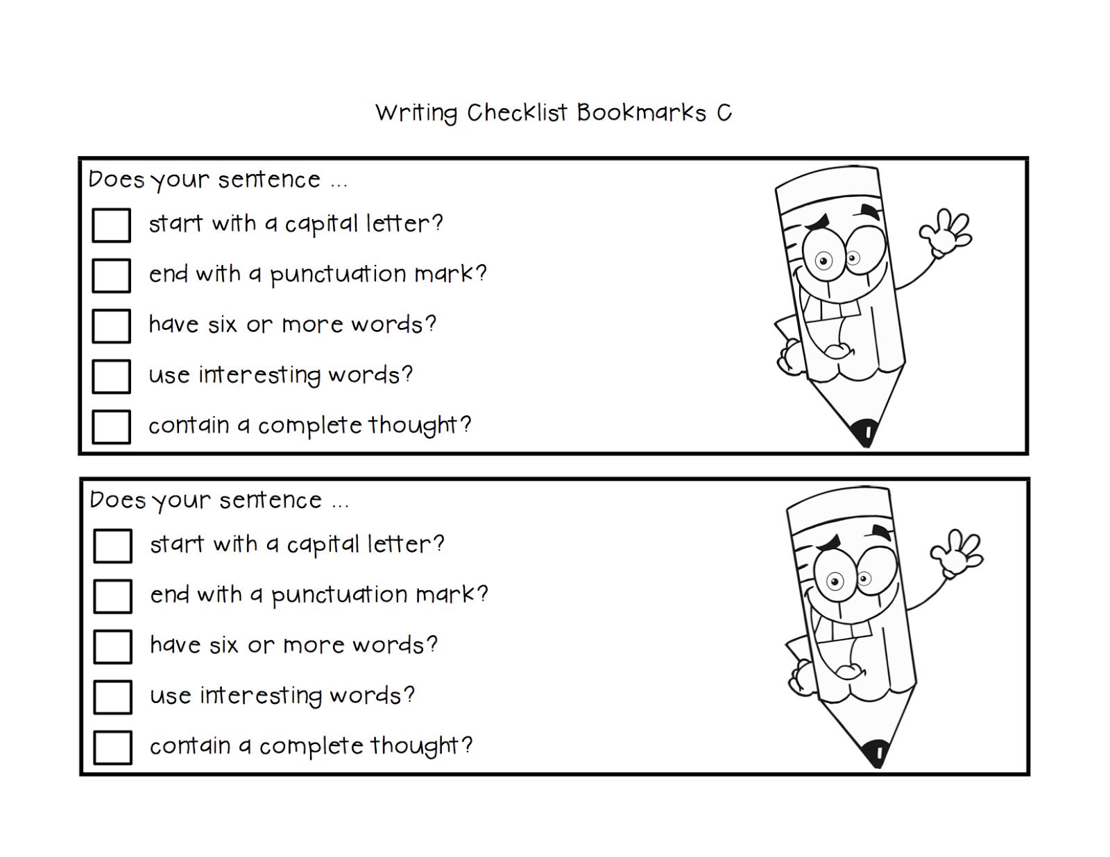 Classroom Freebies Too Freebie Tiered Writing Checklist