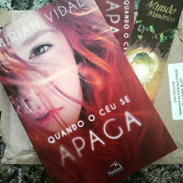 Livro, Recebido, Resenha, Lilian Comunica, Mirian Vidal, Escritora, Quando o céu se apaga {Mirian Vidal}