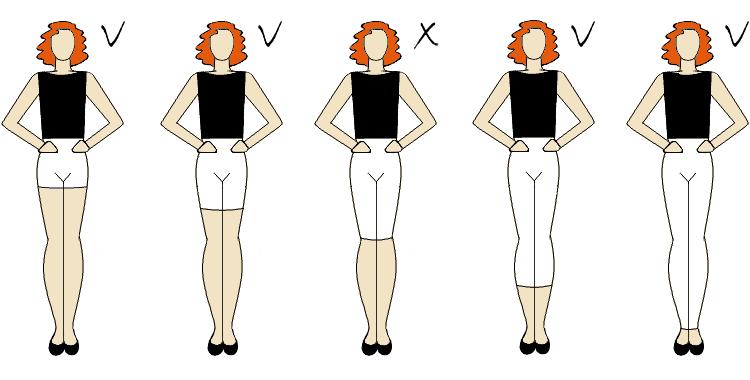 biodra poszerzone dobrze dobraną długością spodni