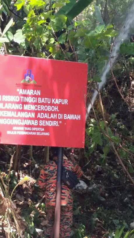 Hutan Bukit Batu Kapur terbakar