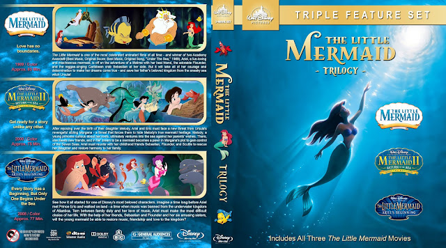 The Little Mermaid Collection Bluray Cover