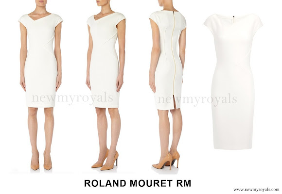 Princess Charlene Wore Roland Mouret Darlington Dress - Resort 2016