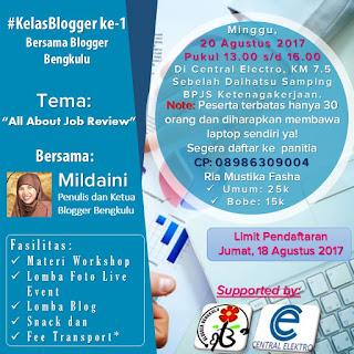 Central Elektro ahlinya AC bersama Blogger Bengkulu
