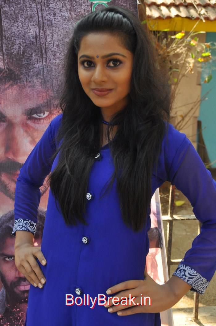 Vaidehi Stills in Blue Dress, Vaidehi Hot Pics from Patra Movie Press Meet