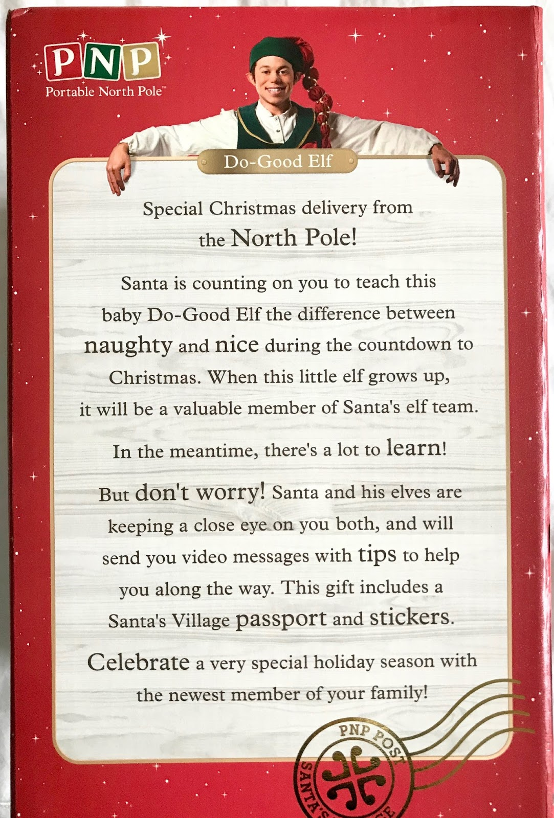 2e7c003d74a73 Our Do-Good Elf also comes with his very own passport from Santa s Village  and special Elf stickers which is a really nice touch