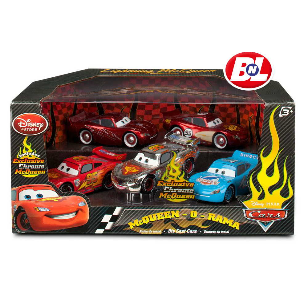 Welcome On Buy N Large Cars 2 Lightning Mcqueen Silver: WELCOME ON BUY N LARGE: Cars 2: McQueen-O-Rama Cars