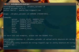 Dropbox uploader