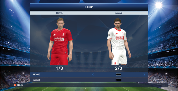 Kit Liverpool Local Visitante PES 2016