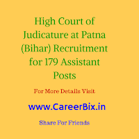High Court of Judicature at Patna (Bihar) Recruitment for 179 Assistant Posts