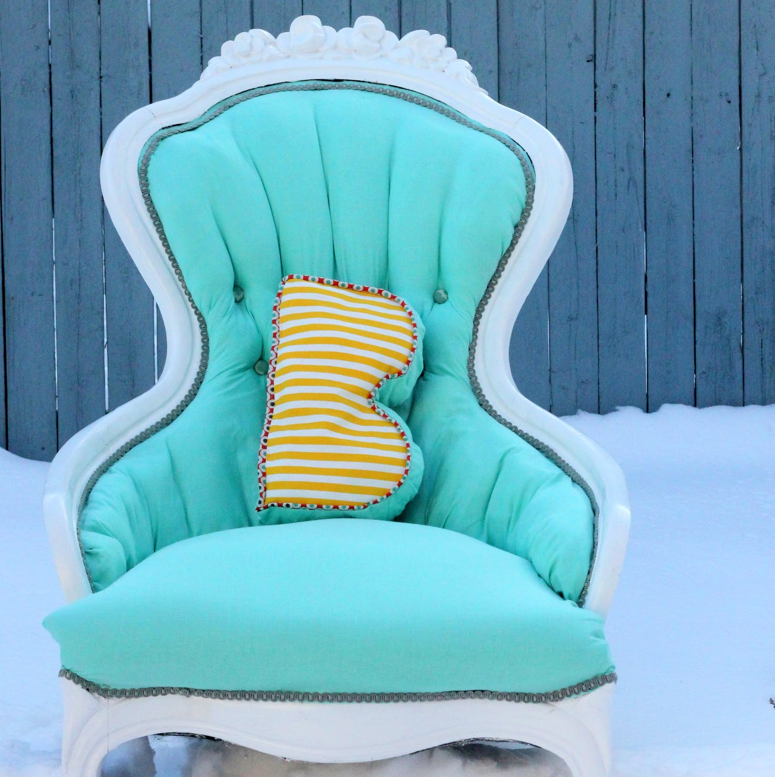 A Vintage Girly Chair Redo For Piper Jane
