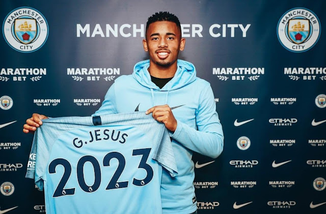 Gabriel Jesus signs new five year deal with Man city