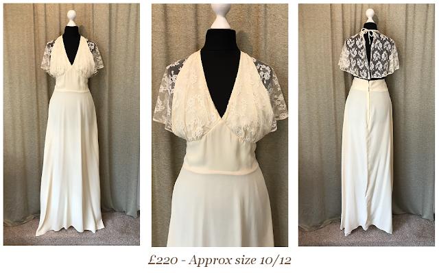 boho halter neck lace cape sleeve bohemian, romantic, backless, vintage wedding dress  available from vintage lane bridal boutique bolton manchester