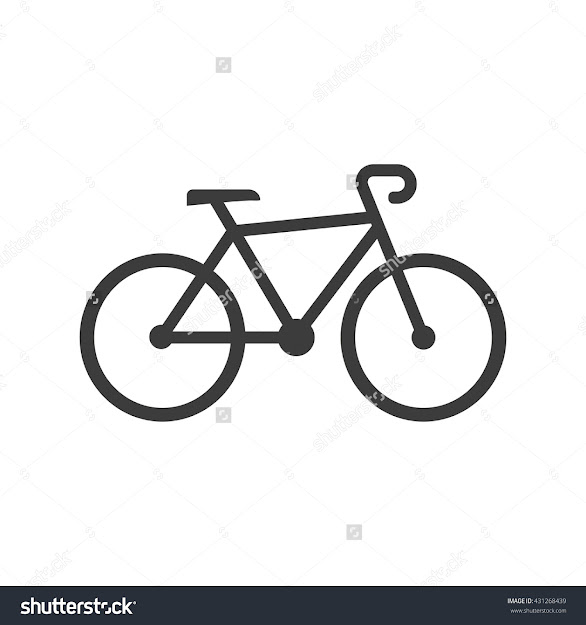 Bike Icon Bike Vector Isolated On White Background Flat Vector  Illustration In Black