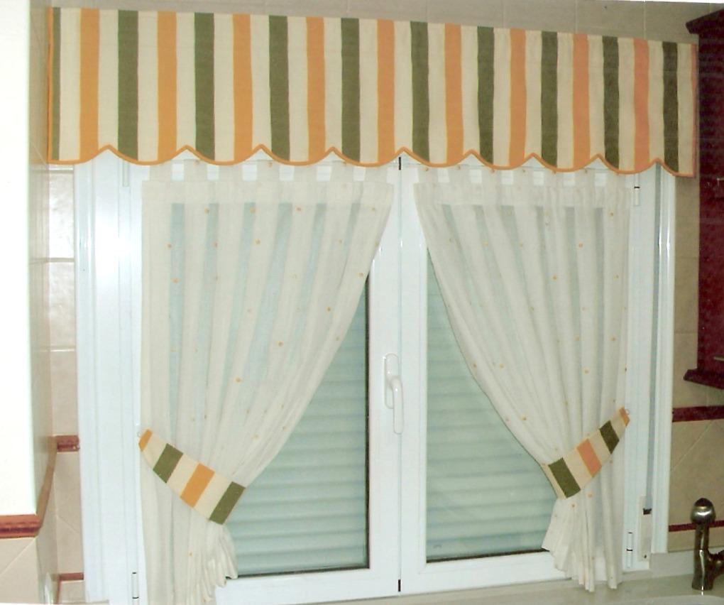 Gu a de cortinas estores enrollables para tu cocina - Como hacer visillos ...
