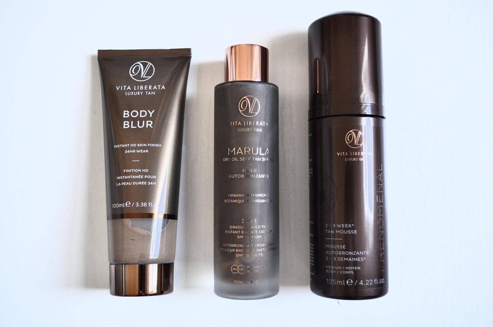 vita liberata body blur instant dry oil self tan marula phenomenal fake tan