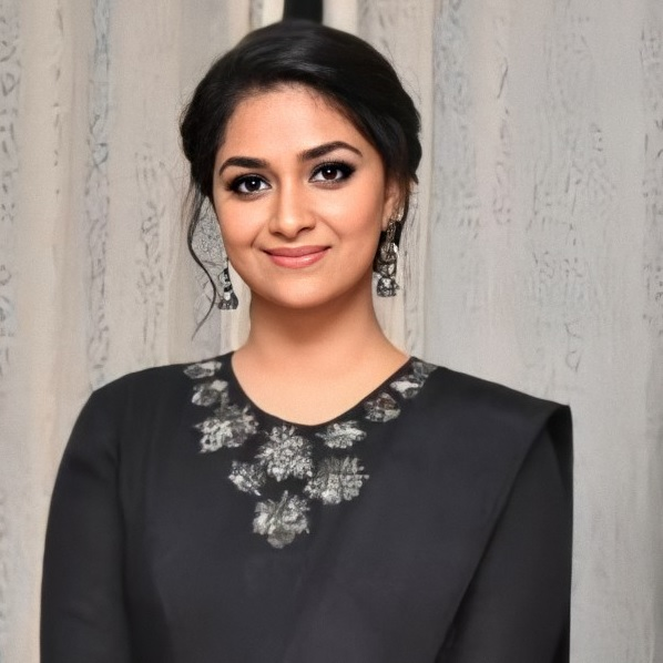 Keerthy Suresh in Black Dress with Cute Lovely Smile