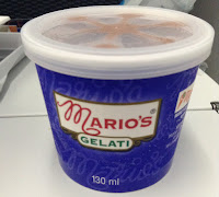 Flight meals dessert from yvr to haneda mario gelati
