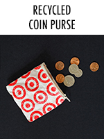 Using recycled melted plastic, you can make this super cute coin purse!