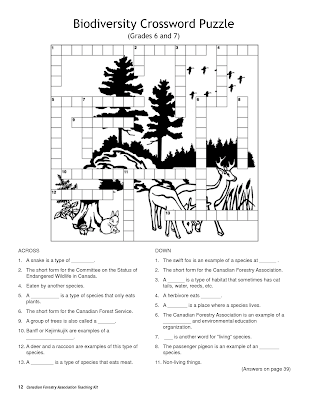 7 Earth Day Crossword Puzzles For 2014