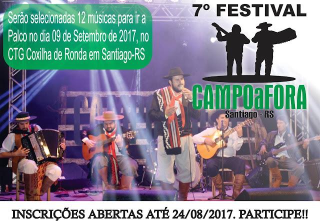 Abertas as inscrições para o 7º Festival Campo a Fora