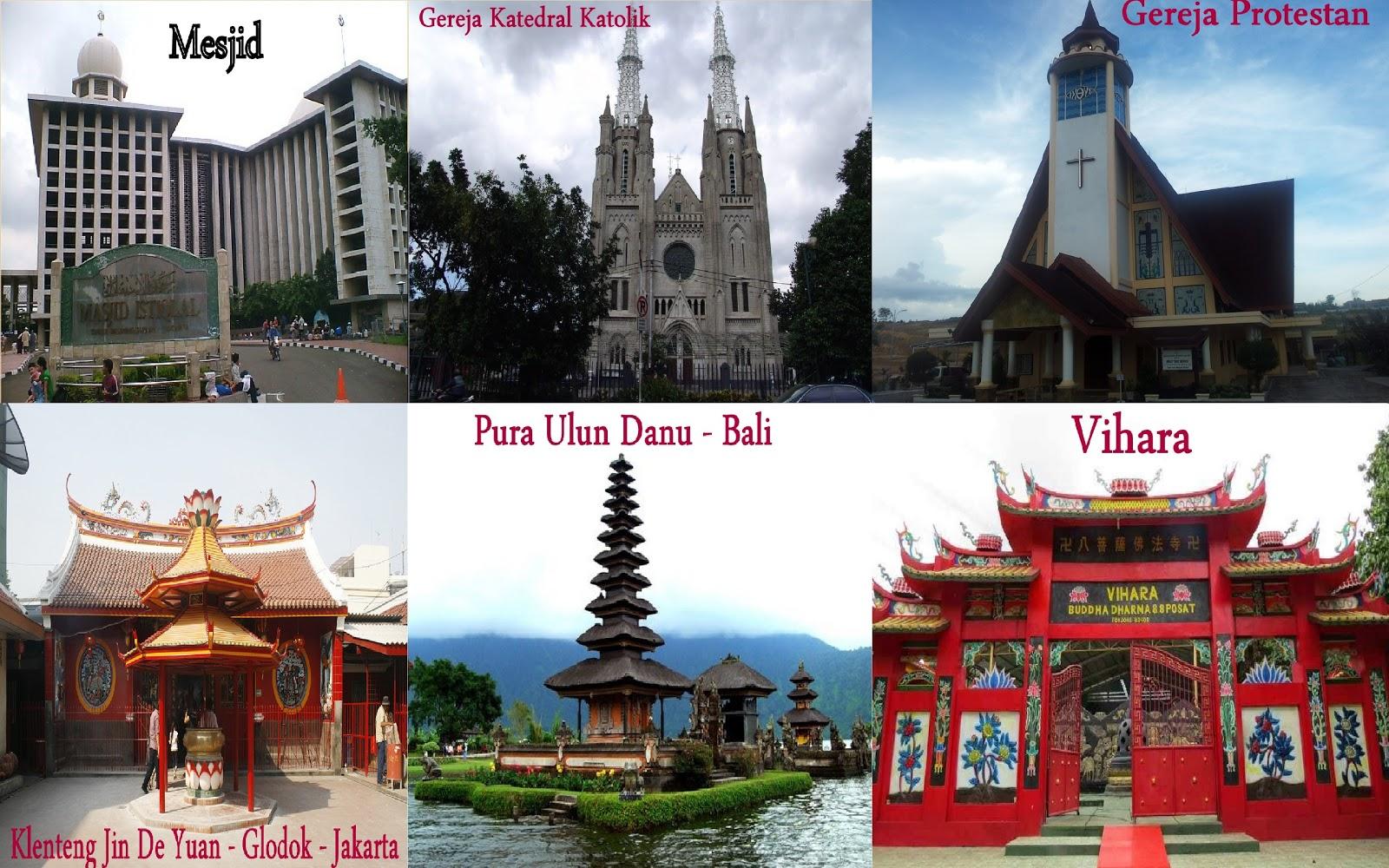 6 Agama di Indonesia yang Diakui dan Tempat Ibadahnya