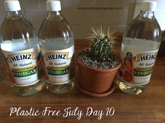 Plastic Free July Day 10 cleaning with vinegar
