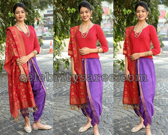 Shreya Rao Dhoti Style Lehenga