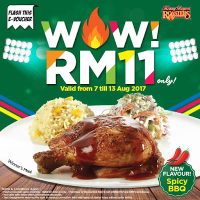 Kenny Rogers ROASTERS Malaysia Spicy BBQ Winner's Meal Discount Offer Promo