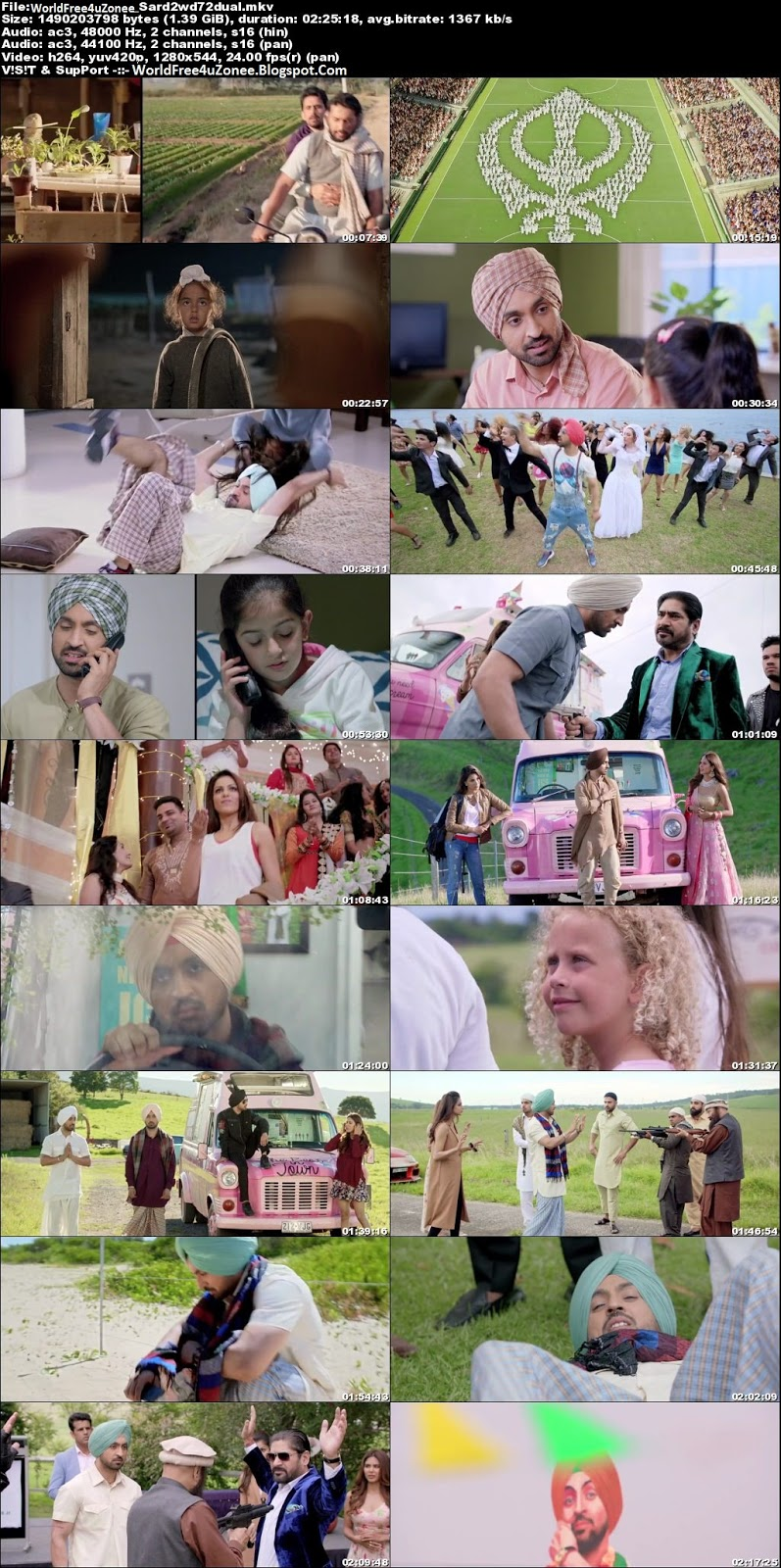 Sardaar Ji 2 (2016) Dual Audio HDRip 1.3GB 720p Full Movie Free Download And Watch Online Latest Punjabi Movies 2017/2018 Free At WorldFree4uZonee.Blogspot.Com