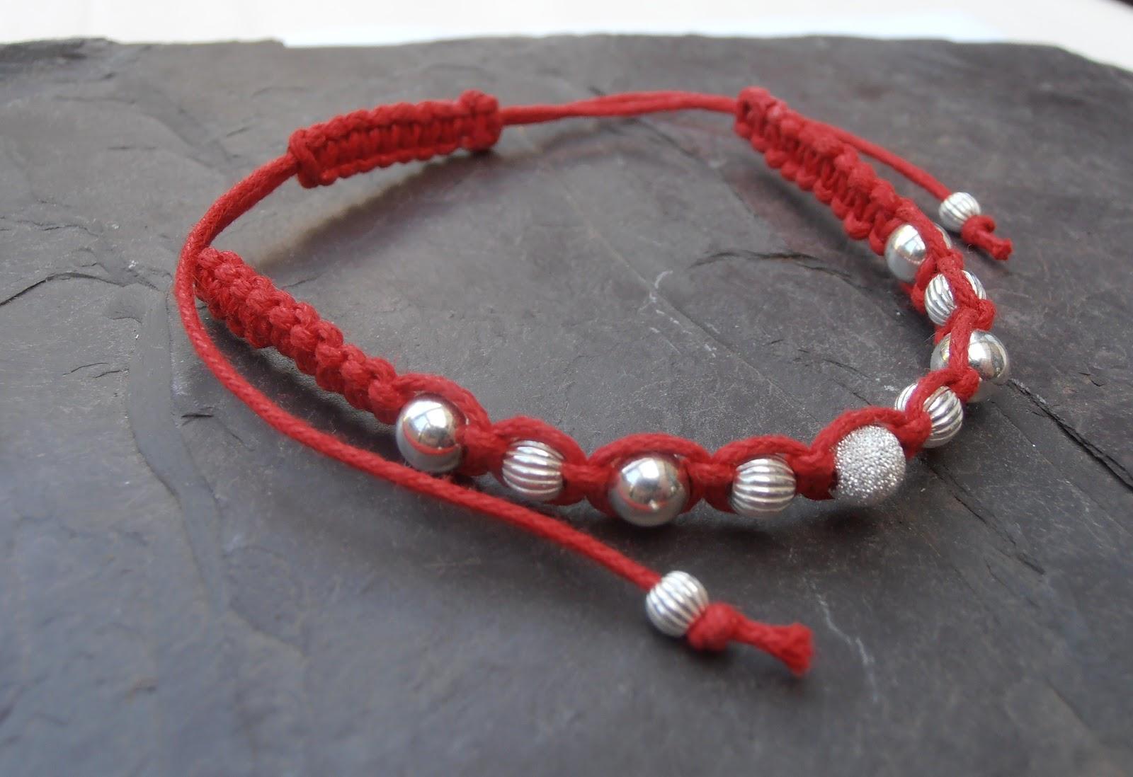 Little Red Robin Macrame Bracelets