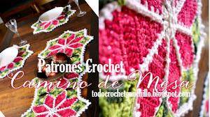 Camino de Mesa Crochet con motivo de flores Estrella federal / Paso a paso