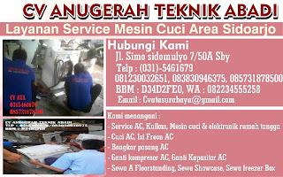 Layanan Service Mesin Cuci Area Sidoarjo