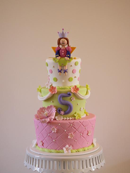 Alainas Princess Fairy 5th Birthday Cake