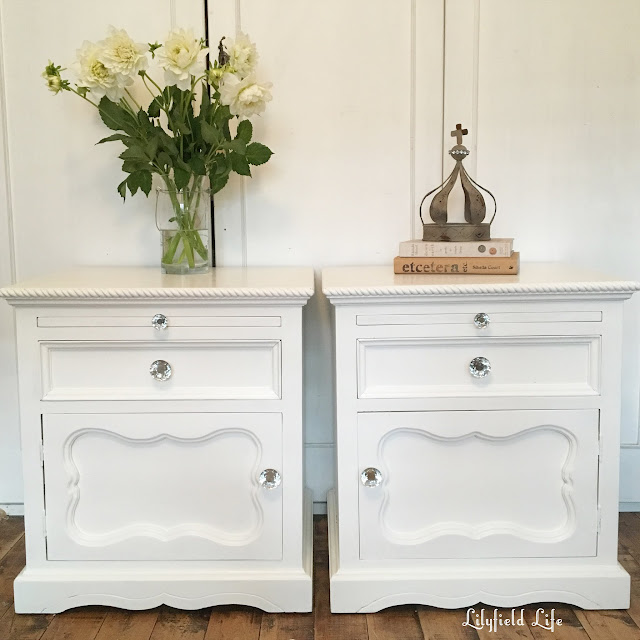 White painted Bedsides by Lilyfield Life
